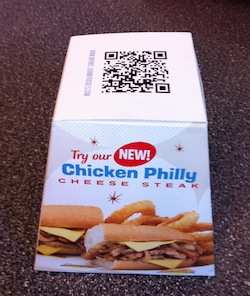 QR Code on a Philly Cheesesteak